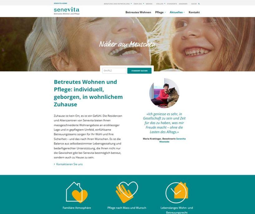 Website senevita.ch